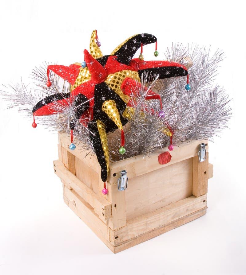 Casella di legno di nuovo anno fotografia stock