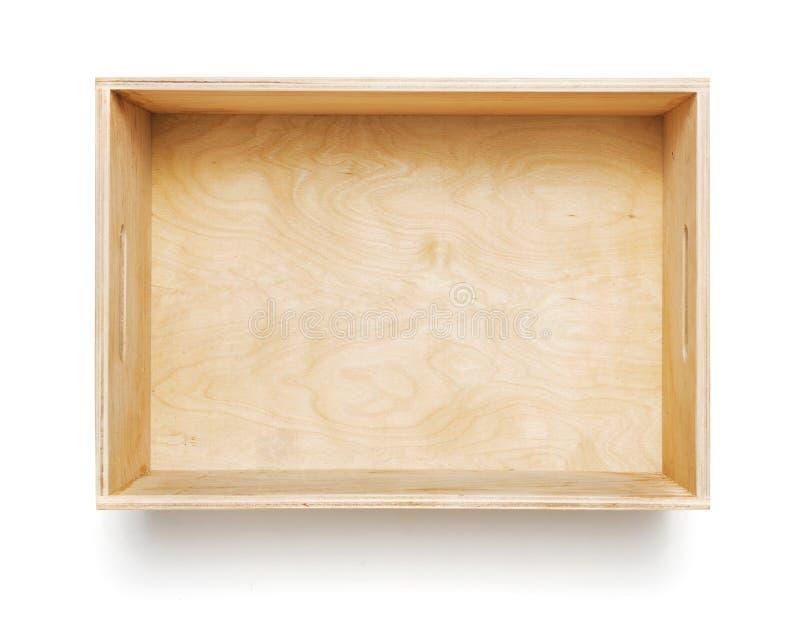 Casella di legno isolata immagini stock