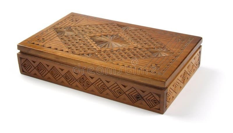 Casella di legno (percorso di residuo della potatura meccanica) immagine stock libera da diritti