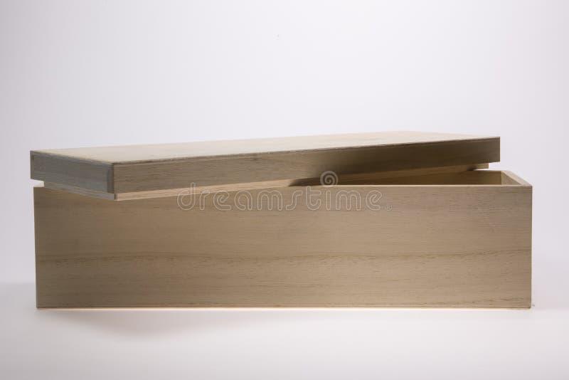 Casella di legno vuota immagine stock