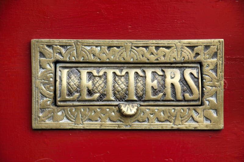 Casella di lettera d'ottone immagine stock libera da diritti