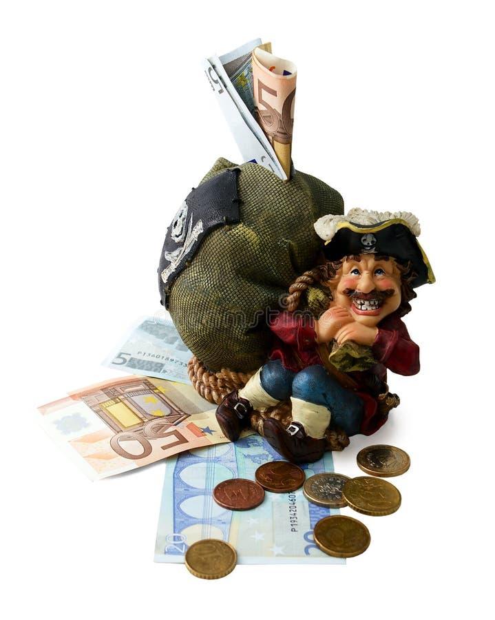 Casella di moneta con soldi immagine stock