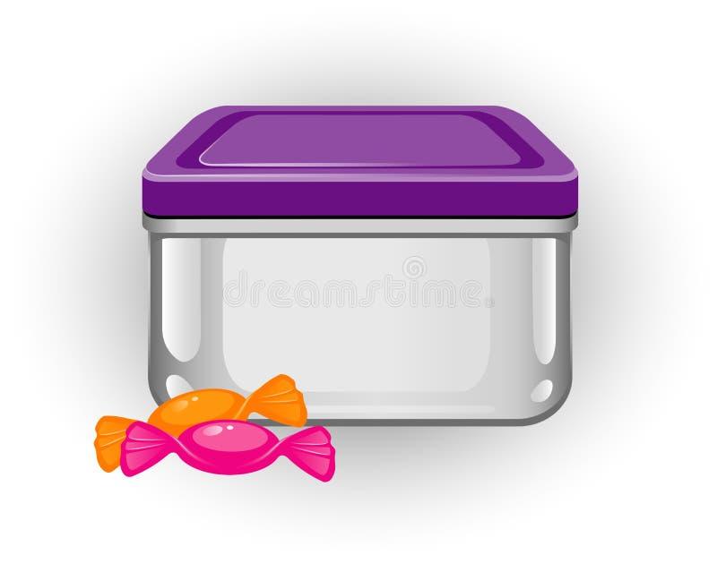 Casella di pranzo illustrazione di stock