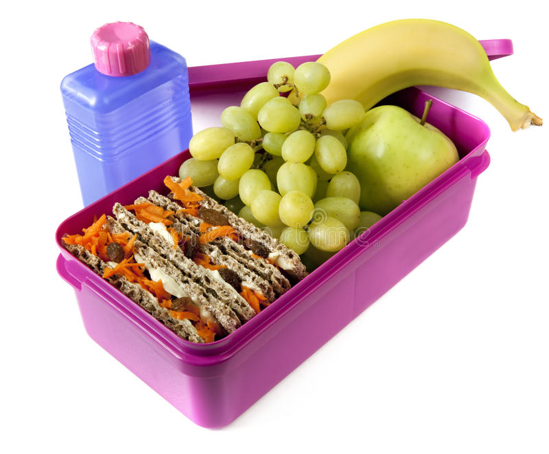 Casella di pranzo nutriente fotografie stock libere da diritti