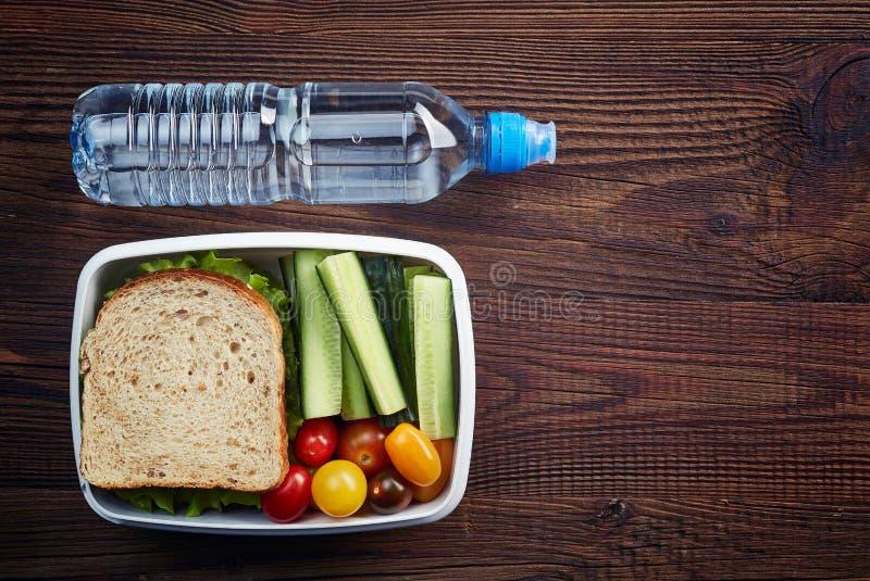 Casella di pranzo sana fotografia stock