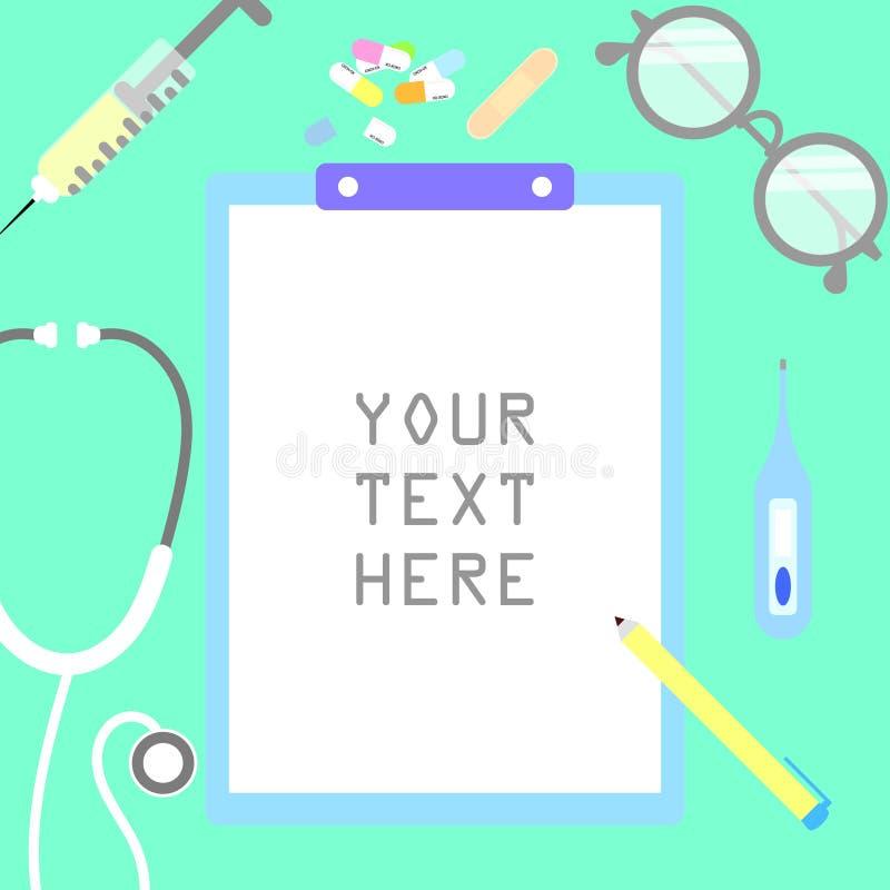 Casella di testo dell'insegna dell'assistenza medica e di sanità royalty illustrazione gratis