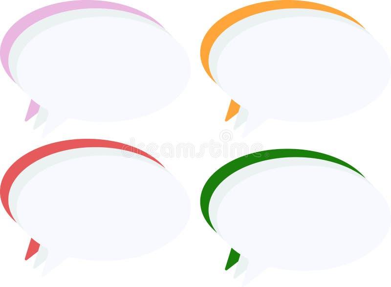 Casella di testo pastello di vettore su un fondo bianco illustrazione di stock