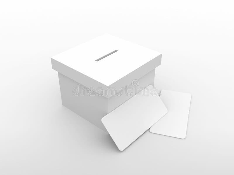 Casella di voto con la busta illustrazione vettoriale