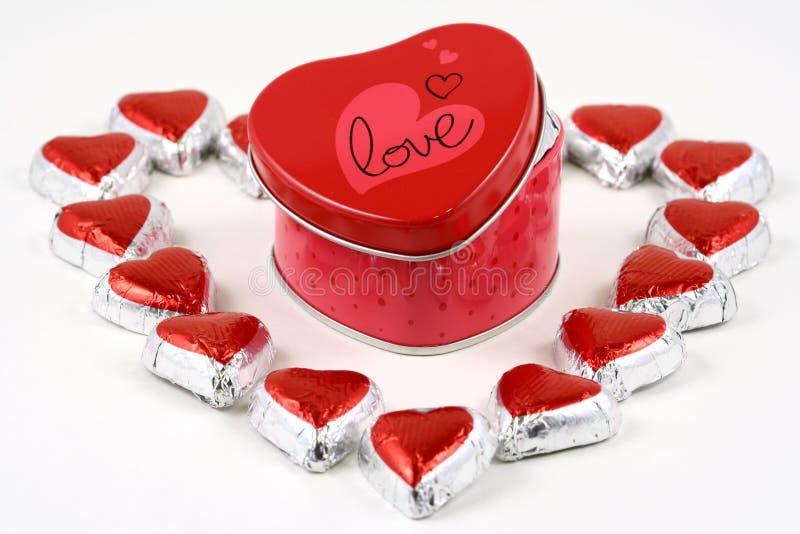 Casella dolce di amore fotografia stock