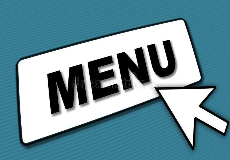Casella e freccia del menu illustrazione vettoriale