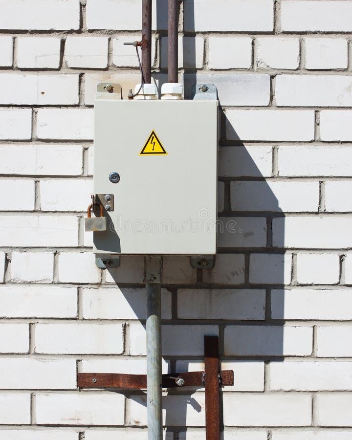 Casella elettrica Locked immagini stock libere da diritti