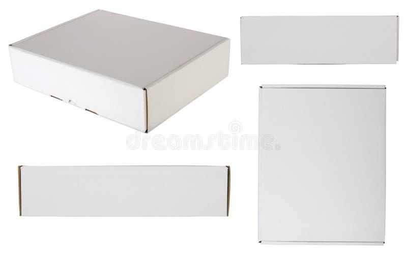 Casella impaccante in bianco fotografie stock libere da diritti