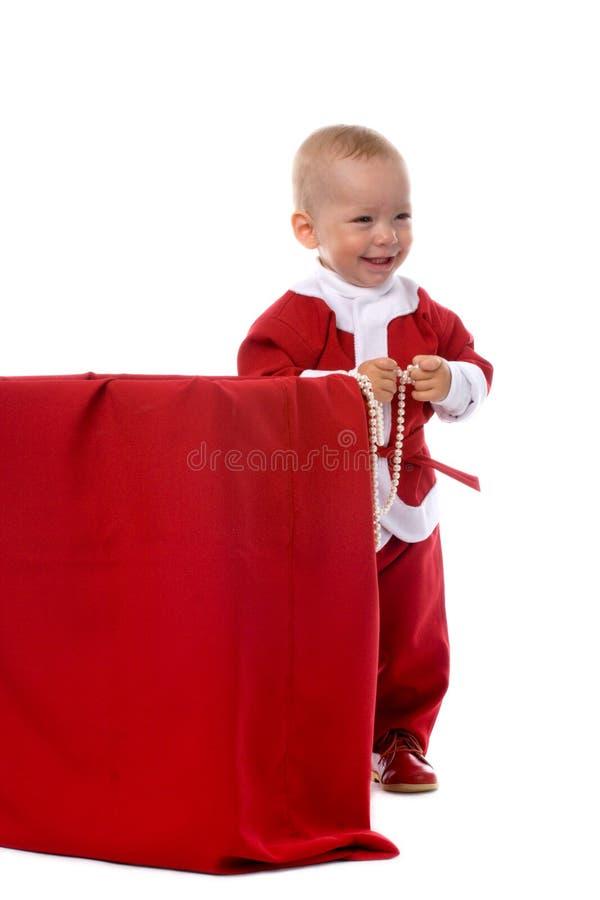 Casella per i regali di natale immagini stock libere da diritti
