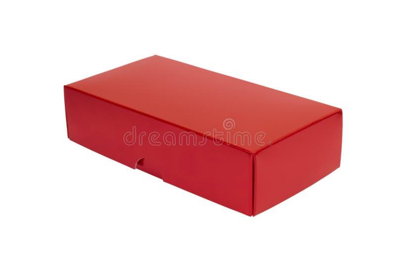Casella rossa immagine stock