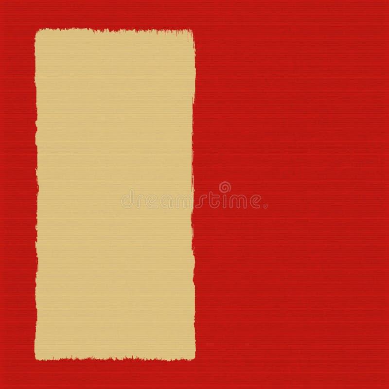 Casella sulla priorità bassa costolata rossa del documento handmade illustrazione di stock