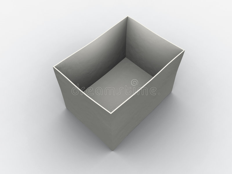 Casella vuota bianca illustrazione di stock