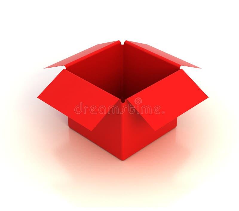 Casella vuota rossa royalty illustrazione gratis