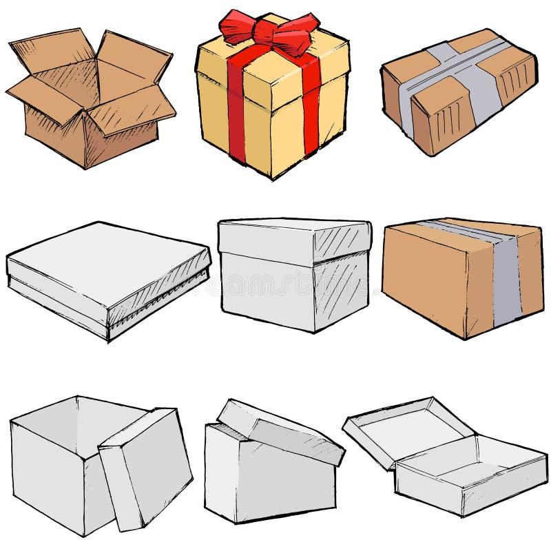 Caselle illustrazione di stock