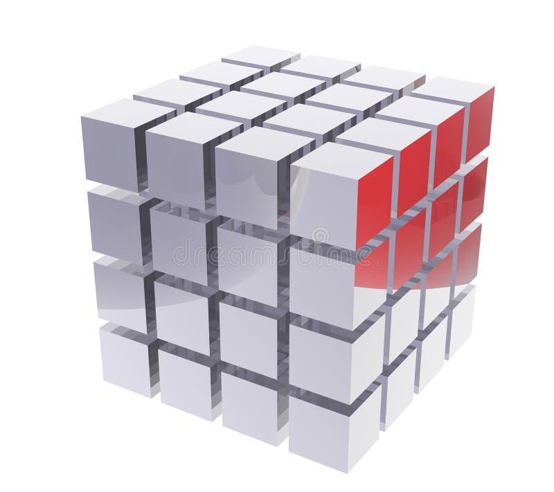 caselle 3D illustrazione di stock