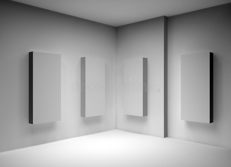 caselle 3D per la pubblicità dell'involucro illustrazione vettoriale