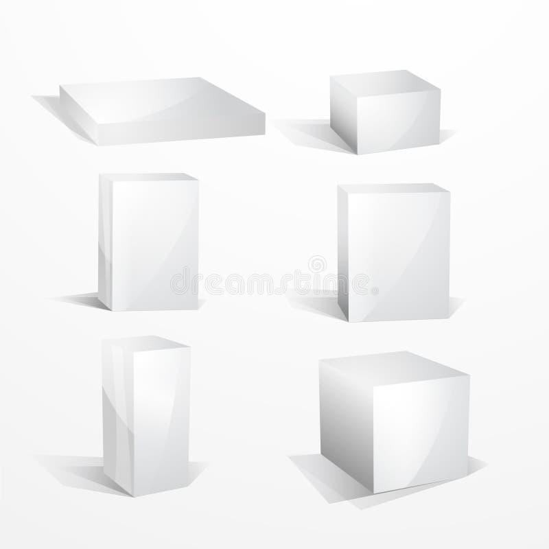 Caselle in bianco bianche royalty illustrazione gratis