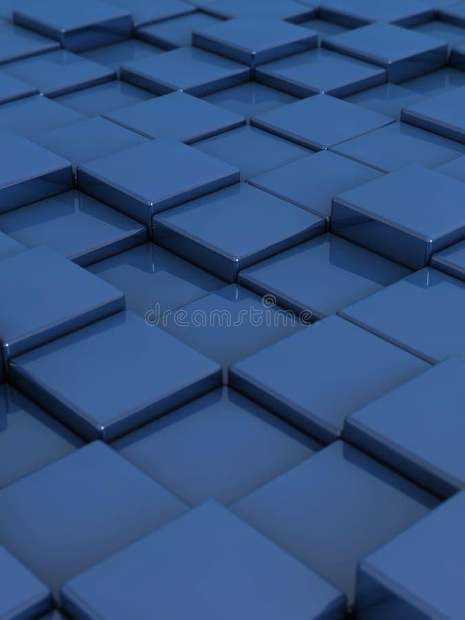 Caselle blu illustrazione di stock