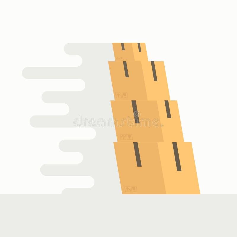 Caselle commoventi illustrazione vettoriale