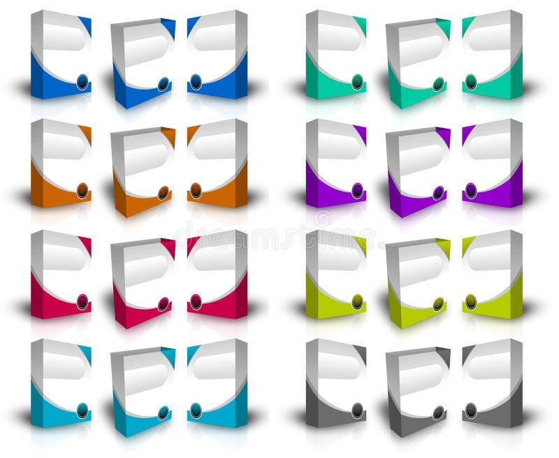 caselle del prodotto 3d illustrazione vettoriale