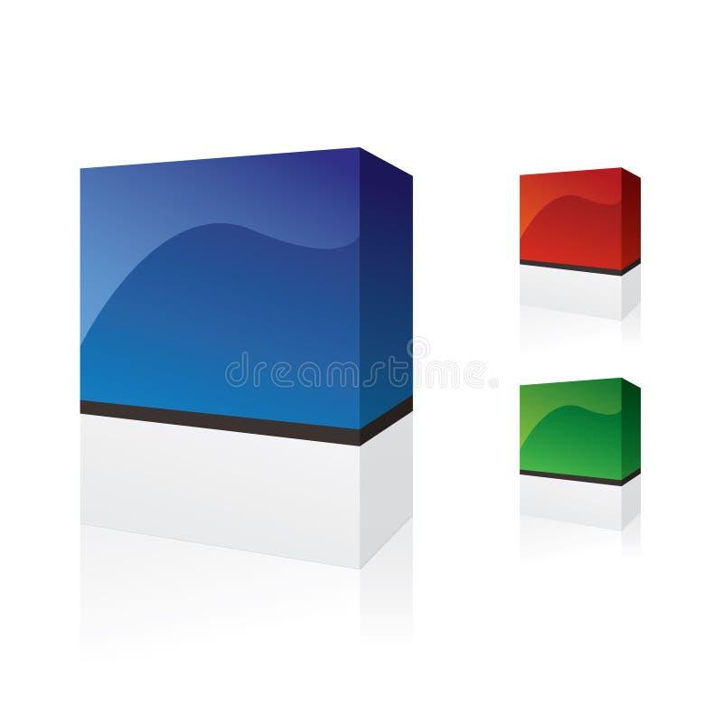 Caselle del software illustrazione vettoriale