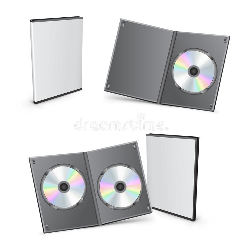 caselle di 3d DVD illustrazione di stock