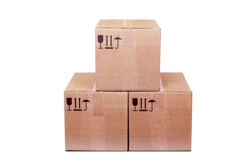 Caselle di Carboard immagine stock