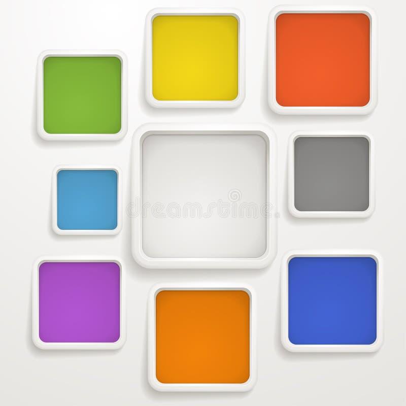 Caselle di colore illustrazione di stock