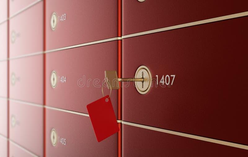 Caselle di deposito sicuro 2 royalty illustrazione gratis