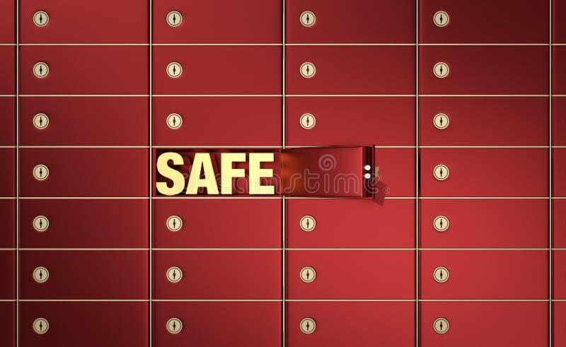 Caselle di deposito sicuro 2 illustrazione di stock