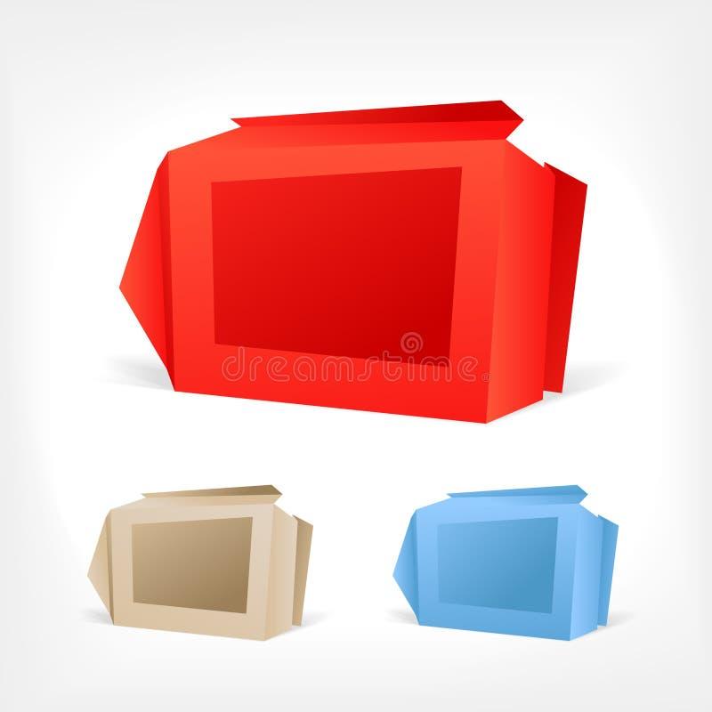 Caselle di Origami royalty illustrazione gratis