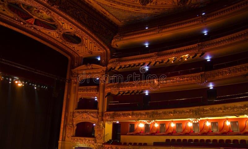 Caselle di Teatro Liceu, Barcellona immagine stock libera da diritti