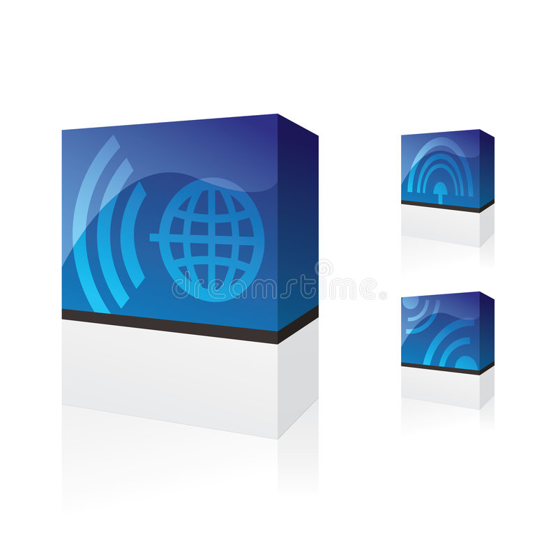 Caselle di telecomunicazione illustrazione di stock