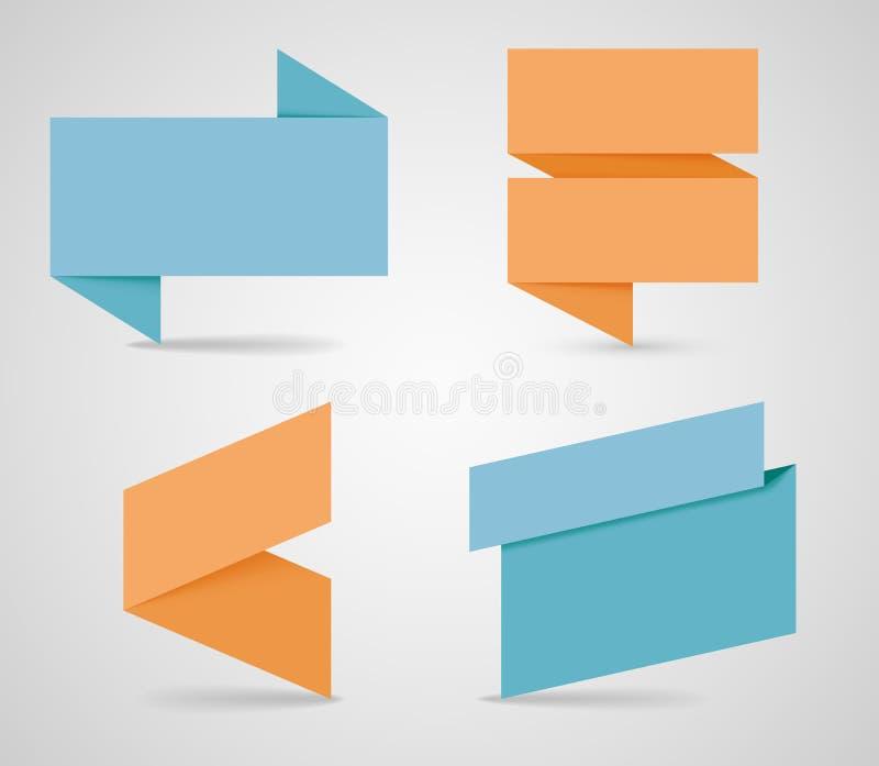 Caselle di testo con le ombre realistiche 1 di vettore illustrazione vettoriale