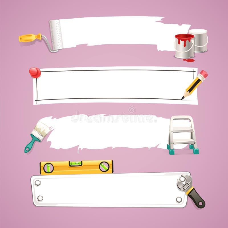 Caselle di testo della costruzione Set1.1 illustrazione vettoriale