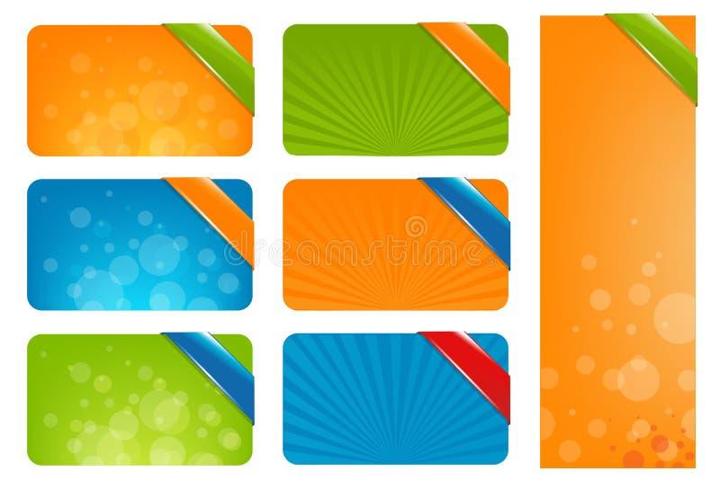 Caselle di testo di Web illustrazione di stock