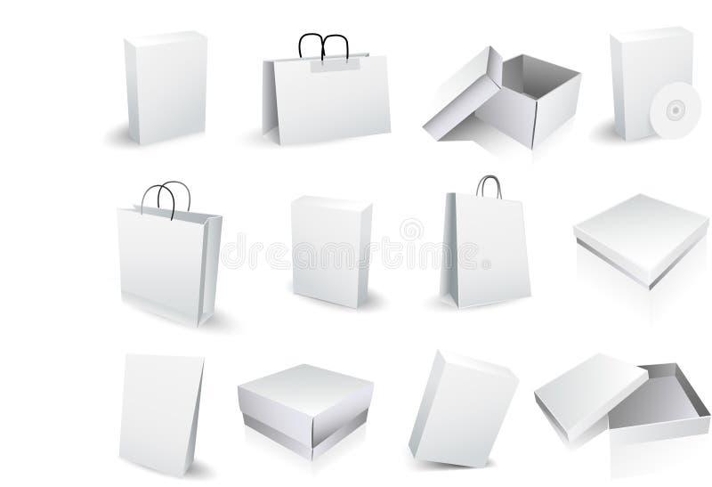 Caselle e sacchetti royalty illustrazione gratis
