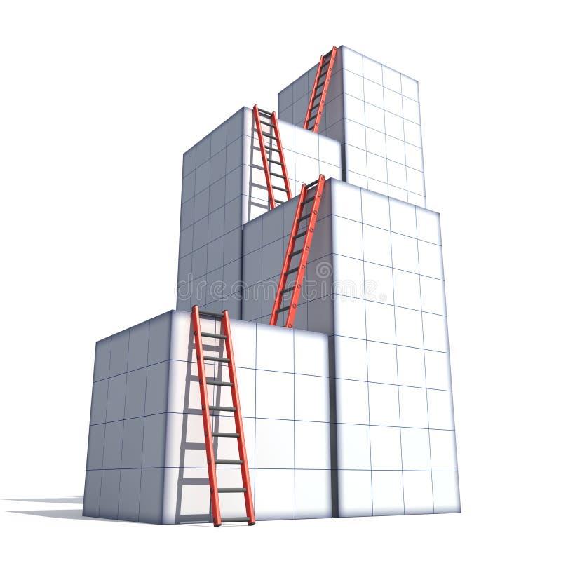 Caselle e scalette illustrazione di stock