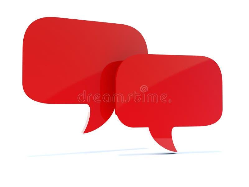 Caselle rosse vuote di chiacchierata royalty illustrazione gratis