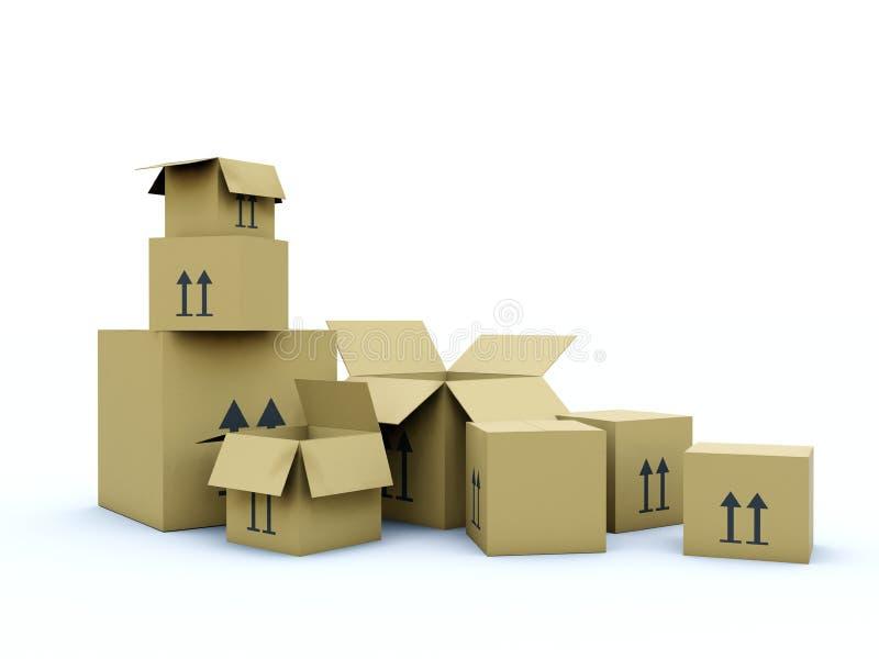 Caselle vuote illustrazione di stock