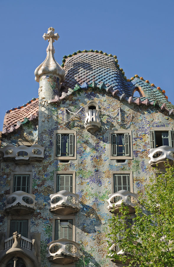 Casen Batllo in Barcelona, Spanien lizenzfreie stockfotografie