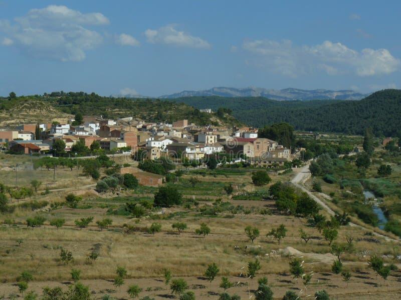 Caseres, Cataluña, España imagen de archivo