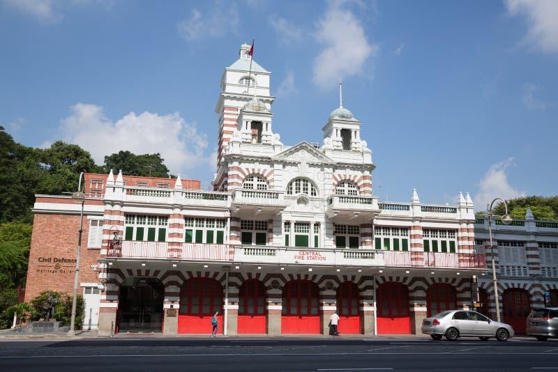 Caserma dei pompieri centrale a Singapore fotografia stock