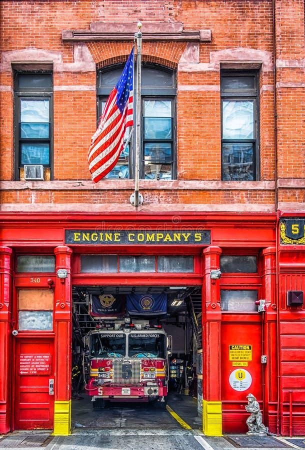 Caserma dei pompieri di Manhattan fotografia stock