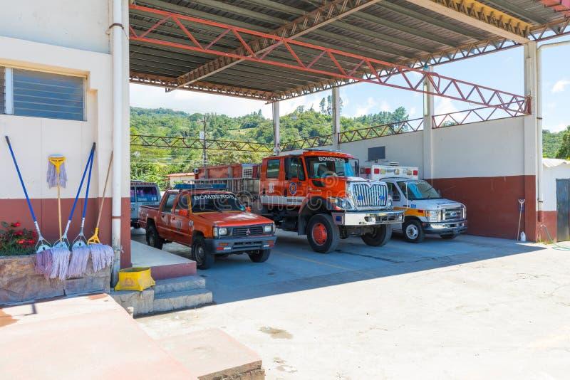 Caserma dei pompieri nel boquete immagini stock libere da diritti