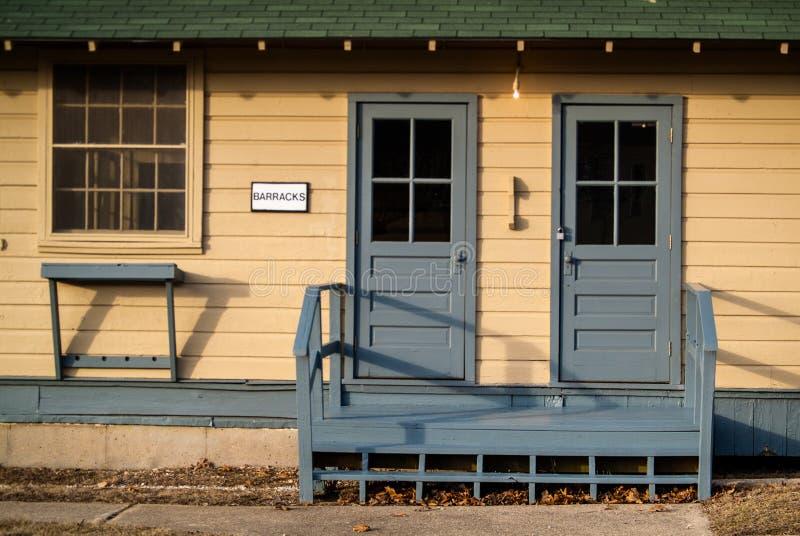 Casernas de WWII fotografia de stock